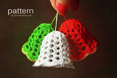 Crochet Pattern Crochet Christmas Bells. $2.90, via Etsy.