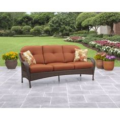 Buy Better Homes and Gardens Azalea Ridge Outdoor Sofa, Seats 3 at Walmart.com