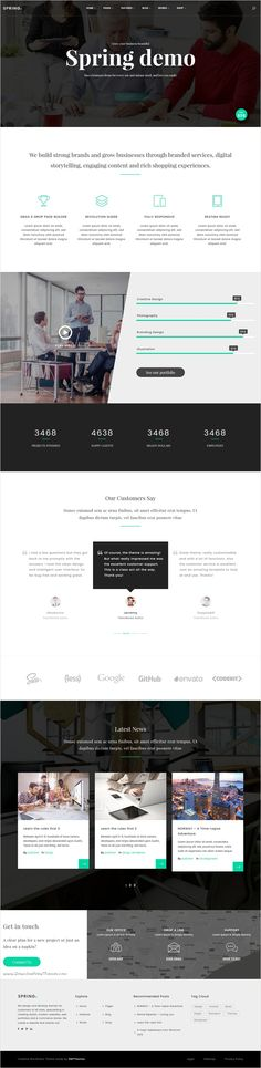 Spring is a fastest loading responsive #WordPress theme for #webdev multipurpose #corporate website with 15+ different homepage layouts download now➩ https://themeforest.net/item/spring-highest-performance-multipurpose-wordpress-theme/17701631?ref=Datasata