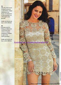 Crochet Wedding Dress Pattern, Crochet Wedding Dresses, Crochet Summer Dresses, Wedding Dress Patterns, Crochet Blouse, Knit Crochet, Glamour, Beautiful Crochet, Crochet Clothes