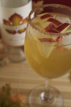 """honeycrisp sangria"" - this will be my signature cocktail for Thursday's get-together!"