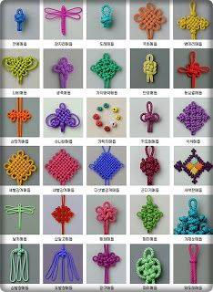 Macrame knots - Site is in Hebrew, use Google Translate.