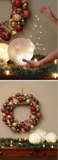 17 Creative and Stylish DIY for Christmas lights: #15. CIRCULAR LIGHT SHADE 'x-mas light filled  or ( SPHERE X·MAS LIGHTS - Diy & Crafts Ideas Magazine