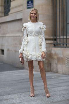 Street Style: Paris Fashion Week Spring 2014 - Lena Perminova