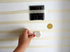 how to evenly apply polka dot wall decals