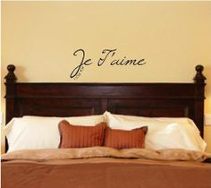 Je T'aime I Love You vinyl wall decal