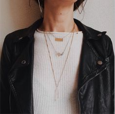 crystal necklaces & perfecto combo