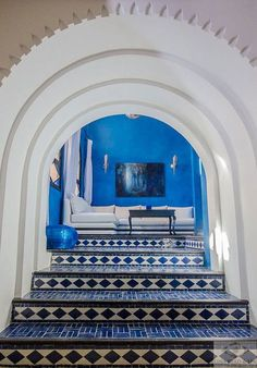 The bustling medinas of Marrakech or Tangier can be overwhelming and tiring. Cue the gentle charms of Chefchaouen, a.a the Blue City. Visit Morocco, Morocco Travel, Africa Travel, Italy Travel, Moroccan Design, Moroccan Style, Moroccan Garden, Moroccan Art, Mykonos