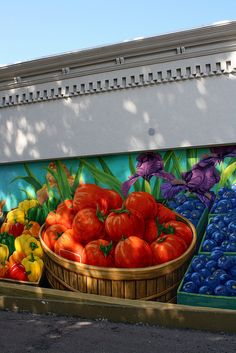Mural by the Farmer's Market in South Haven.
