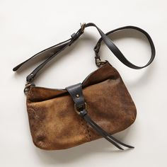 """JESSE'S GIRL CROSSBODY BAG made in the USA of distressed, Italian leather Exclusive. Approx. 11""""W x 2""""D x 7""""H."""