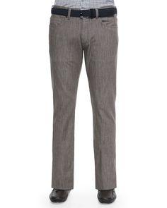 Stretch Denim Jeans, Brown, Size: 32 - Ermenegildo Zegna