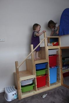 Ikea Kura bed with steps instead of ladder