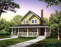 Farmhouse  Narrow Lot   Vacation   House Plan 55028