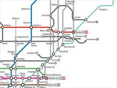 U.S. Highway Subway Map, Northeast