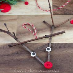 Twig Reindeer Ornaments   Fireflies and Mud Pies