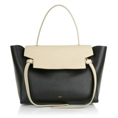 More than super elegant: the Celine 'Small Belt Bag Black Beige' is one of the favorites handbags to wear in the office. Fashionette.de