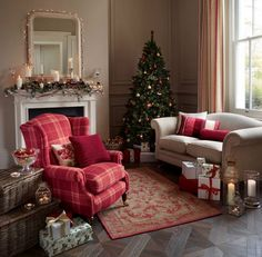 Holiday Interior Design Sitting Room Setting