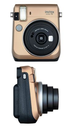 Glam gold Fujifilm Instax Mini 70 Instant Film Camera. Super fun and handy. Wonderful gift ideas for her (Christmas gifts for teen girls)