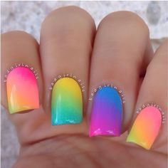 Colorful Summer Nails nails colorful nails nail art summer nails nail trends nail ideas summer nail art
