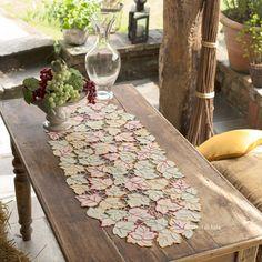 kit convenienza per fare lista da ricamare a punto intaglio foglie