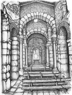 Es el monumento más interesante que se ha conservado del Arte Visigodo. Iglesia cruciforme, que incluye departamentos para los monjes, totalmente abovedada y con un magnífico conjunto de decoración esculpida. Trasladada de lugar en 1931, se encuentra en muy buen estado de conservación.