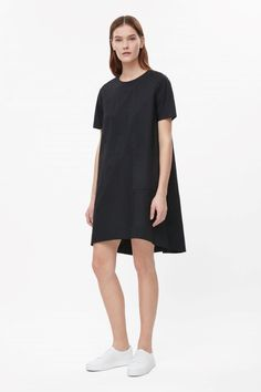 Dress with pleated back