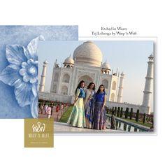 Warp 'n Weft Taj Lehenga Benarasi Persian Blue Persian Blue, Indian Weddings, Color Trends, Lehenga, Taj Mahal, Weaving, Colours, Elegant, Fashion Trends