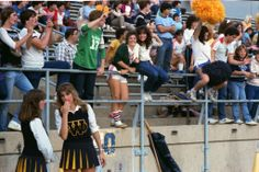 #real #80s #people #high #school #football #game