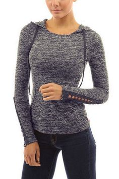 Grey Hoodie with Crochet Lace Details
