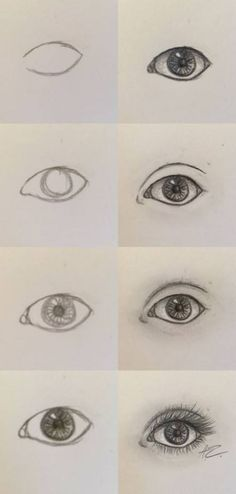 Semi-Realistic eye step by step easy eye drawing, eye drawing Easy Eye Drawing, Easy Drawing Tutorial, Eye Drawing Tutorials, Eye Tutorial, Drawing Tips, Drawing Ideas, Person Drawing, Drawing People, Art Drawings Sketches