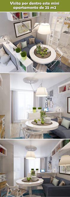 The Best 2019 Interior Design Trends - Interior Design Ideas Small Apartment Interior, Small Apartment Design, Studio Apartment Decorating, Small Apartments, Home Design Living Room, Condo Living, Interior Design Living Room, Home And Living, Mini Loft