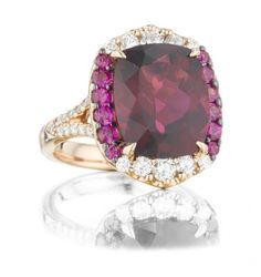 Rubelite, Pink Sapphire, and Diamond Ring from Levinson Jewelers