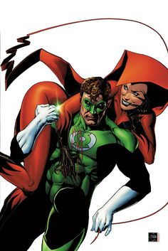 Green Lantern and Crimson Fox by Ethan Van Sciver