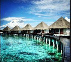 The stunning Adaaran Prestige Water Villas in the Maldives.