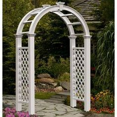 "59 3/4""W x 28""D x 94 1/8""H Nantucket Legacy Arbor, White by New England Arbors. $439.00. 59 3/4""W x 28""D x 94 1/8""H Nantucket Legacy Arbor, White"