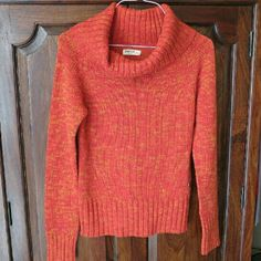 Orange Cowl Sweater New to my closet  Timeout Large Orange Cowl Sweater Gently preloved a few times Timeout Sweaters Cowl & Turtlenecks