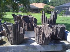 Cement Cloth Planters Its a one to four ratio... ( 2 cups cement to 8 cups water) however much u want to make. They said to make it the thickness of onion ring batter. Make sure that your cloth is well saturated before you drape it