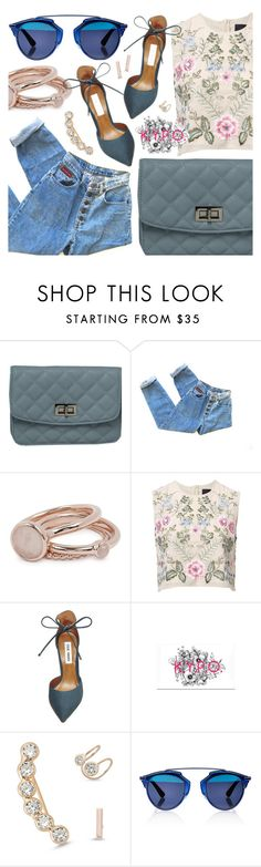 """""""Kick Your Pumps Off"""" by pastelneon ❤ liked on Polyvore featuring Lola Rose, Needle & Thread, Steve Madden, Christian Dior, Blue, Trendy and spring2016"""