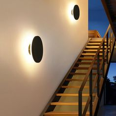 Decorate and lightup your outdoor area and create a stunning light reflection effect with this Modern Disc Light Reflect Lamp!Made from aluminium.Both lamp measures approximately x x source : AC. Modern Wall Lights, Modern Ceiling, Led Ceiling Lights, Hanging Lights, Modern Lighting, Ceiling Light Design, Lighting Ideas, Lighting Design, Outdoor Wall Lamps