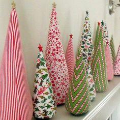 mantel tela rbol navidad decoracin inspiracin navidad pinterest - Arbol De Navidad De Tela