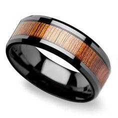 Koa Wood Rings, A Collection of Men's Wood Wedding Rings #weddingring