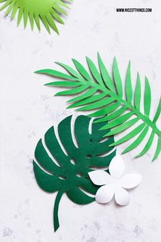 DIY Tropical Leaf Garland Tutorial with FREE Printable Templates