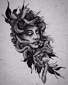Skull Rose Tattoos, Skull Girl Tattoo, Black Tattoos, Body Art Tattoos, Sleeve Tattoos, Tatoos, Sketch Style Tattoos, Sketch Tattoo Design, Tattoo Sketches