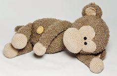 Haakpatroon aap Lucas #haken #haakpatroon #amigurimi #gehaakt #knuffel #crochet #crocheting #crochetpattern #aap