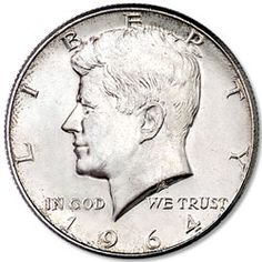First year 90% silver Kennedy half dollar
