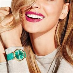 """The colors of the moment. 9"""" L leatherlike strap with floral-stamped pattern. #Avon #Fashion #Jewelry #AvonRep"""