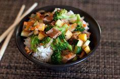 Rumbi Island Grill Pork Teriyaki Rice Bowl | AllFreeCopycatRecipes.com