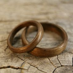 an etsy shop that sells beautiful sets of wooden wedding rings, also go to the shop's flickr account to see lots more of their creations