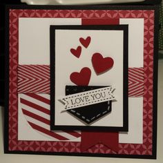 Pocket Full of Love Stampin Up Valentines Card inspired by Mary Fish cased by Gloria Kremer