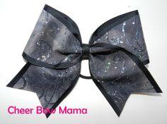 Gray and Black Cheer Bow by Cheer Bow Mama